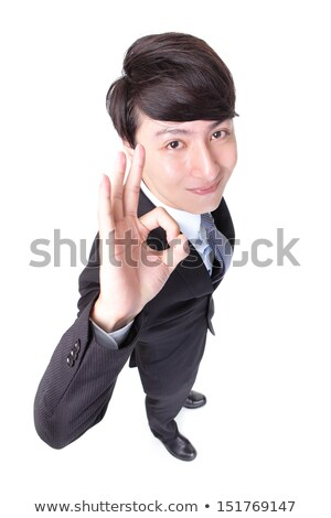 high angle of a friendly businessman with thumb up stock photo © wavebreak_media