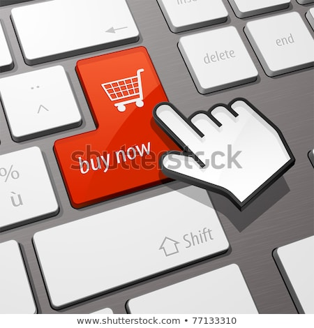Stock photo: computer keyboard with buyer button