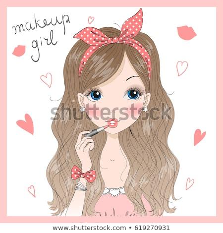 modell · szempilla · gyönyörű · nő · divat · fiatal - stock fotó © carlodapino