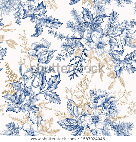 Abstract winter blue seamless vector pattern.  Stock photo © lenapix