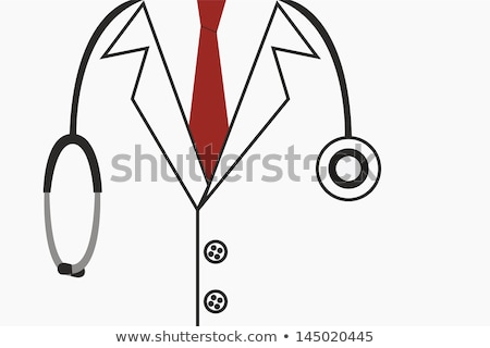 Doctor with stethoscope. Buddy icon. stock photo © gladiolus