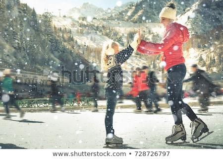 Сток-фото: семьи · катание · Открытый · зима