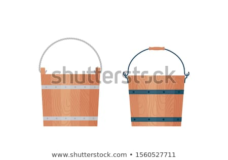 Wooden pail Stock photo © SVitekD