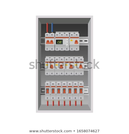 Electricians installing a distribution board Stock photo © photography33