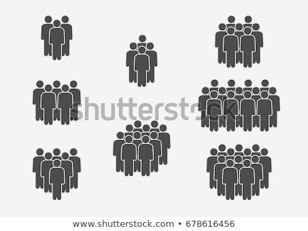 Сток-фото: �руппа · людей · значок