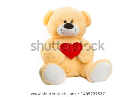 teddy bear with golden heart stock photo © marcogovel