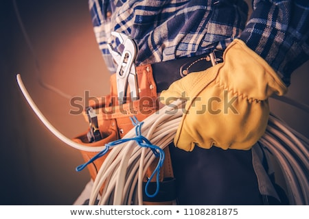 electrician preparing cable stock photo © photography33