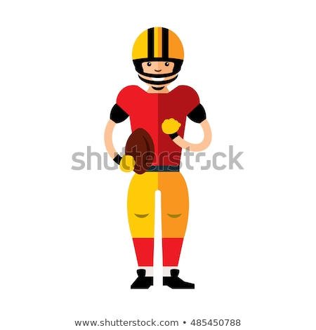 Football Player Quarterback Vector Cartoon Stock photo © chromaco