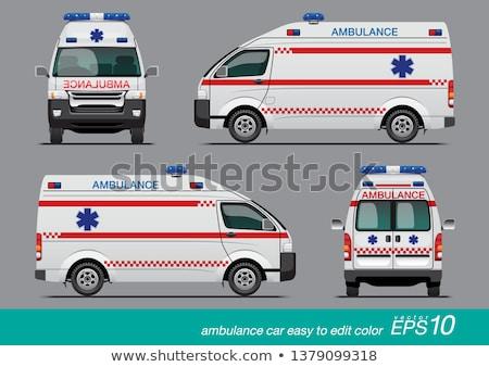 Ambulância carro isolado branco saúde fundo Foto stock © Genestro