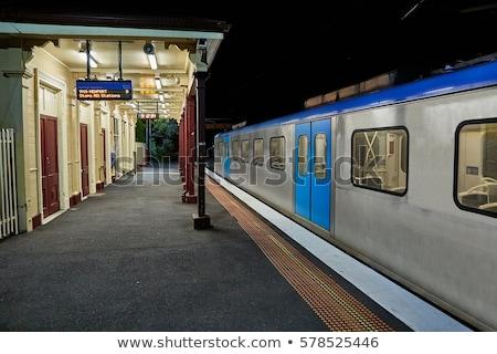Melbourne estação de trem rua brilhante céu Foto stock © iTobi