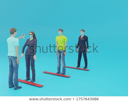 3D People Holding Thermomether stock photo © Quka