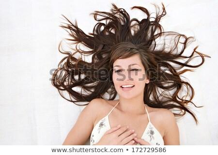 retrato · mulher · jovem · lingerie · mulher · jovem - foto stock © pawelsierakowski