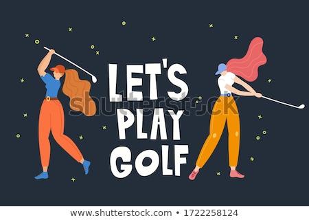 Karikatür el golf çizim sanat Stok fotoğraf © indiwarm
