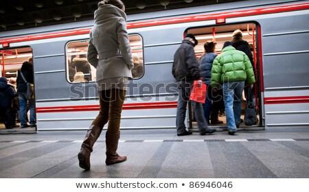 Photo stock: Métro · Prague · détail · technologie · vert · vitesse