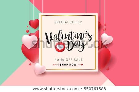 Valentin étiquettes saint valentin coeur modèle Photo stock © kistrialos