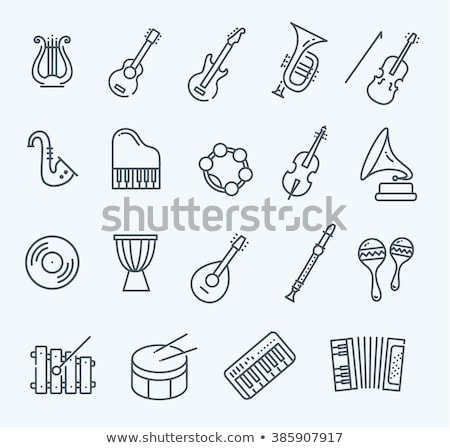 Stock photo: musical instrument icon set