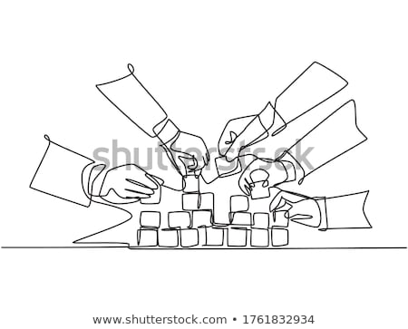 Isolated Construction Block - One Stock photo © eldadcarin