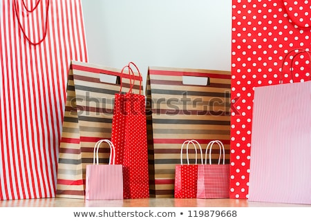 Assorted shopping and gift red paper bags - shopping and holiday Stock photo © HASLOO