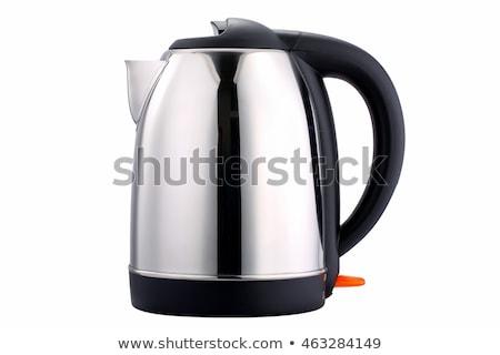 электрических · чайник · стекла · воды · изолированный · белый - Сток-фото © shutswis