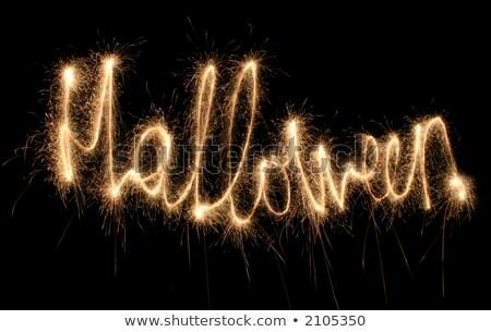 Halloween sterretje kan zie ander woorden Stockfoto © Paha_L
