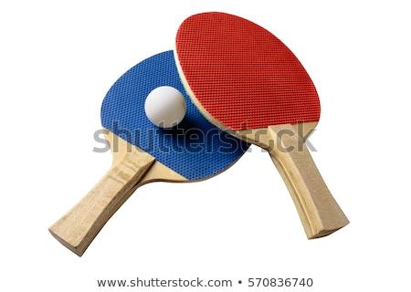 теннис пинг-понг белый изолированный таблице Сток-фото © deyangeorgiev