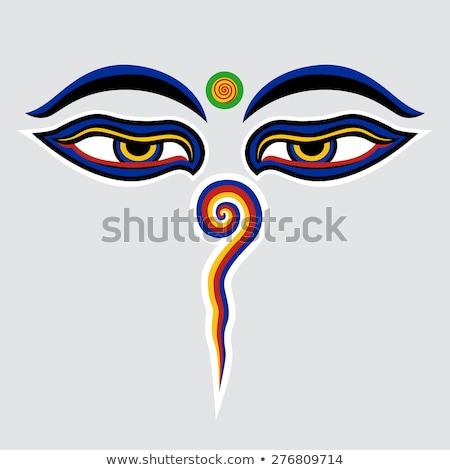 Eye of Buddha- Buddhism Symbol Stock photo © shawlinmohd