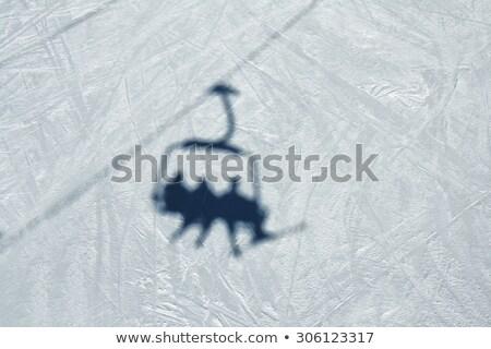 árnyék sí lift fehér hó természet Stock fotó © macsim