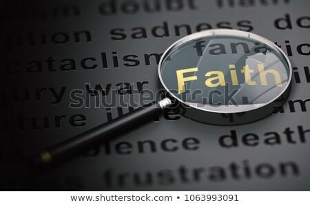 focus on faith over doubt stock photo © 3mc
