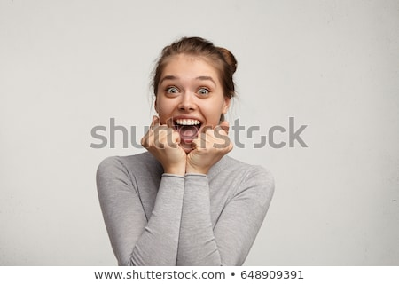 excited funny face expression on party girl stock photo © maridav