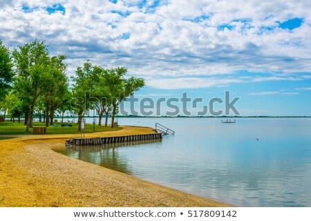 öv tájkép park tó virág víz Stock fotó © Bertl123