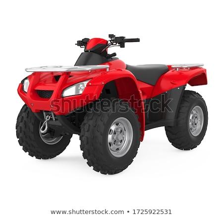 Foto stock: Quads In The Desert - 3d Render
