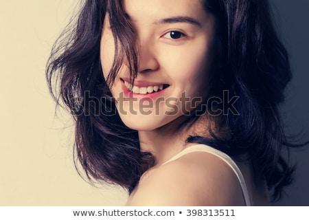ストックフォト: アジア · 少女 · 20歳代 · 笑みを浮かべて