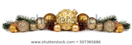 karácsony · labda · egyezség · konzerv · használt · üdvözlőlap - stock fotó © mintymilk