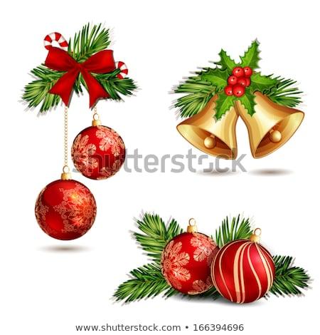 Natale · decorazione · albero · di · natale · decorazioni · sfondo · rosso - foto d'archivio © yuyang