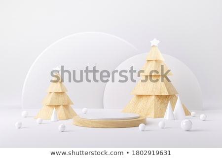 Karácsony csendélet gyertya dekoratív virág díszek Stock fotó © MKucova