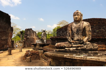 ancient buddha statue at polonnaruwa stock photo © hofmeester
