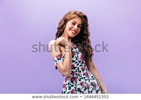 портрет · элегантный · женщину · долго · платье - Сток-фото © feedough