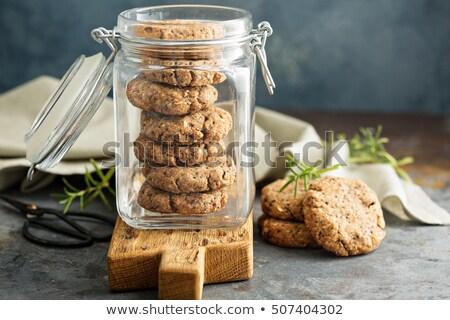 Stock fotó: Fekete · sütik · dió · édes · finom · csokoládé