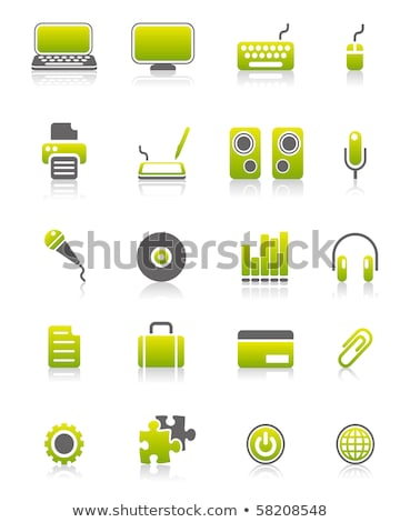 Microphone Icon on Green Puzzle. Stock photo © tashatuvango