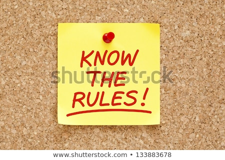 Stock photo: Rules Red Marker