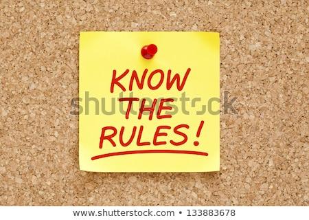 regras · lei · legal · negócio · casa · jogo - foto stock © ivelin