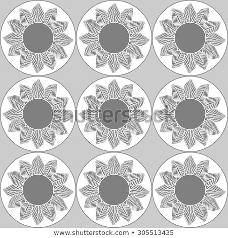 Resumen negro edad frontera marco blanco Foto stock © oly5
