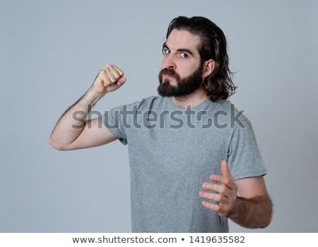 Aggressive Young Man  Stock photo © filipw