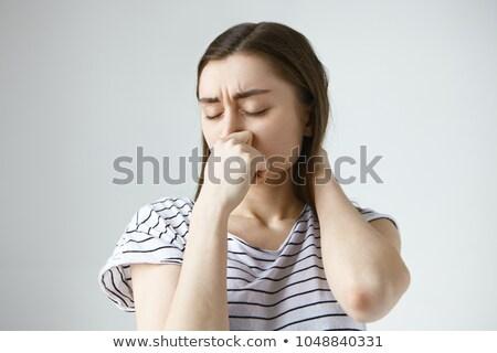 Jonge vrouw oksel portret hand lichaam badkamer Stockfoto © nenetus