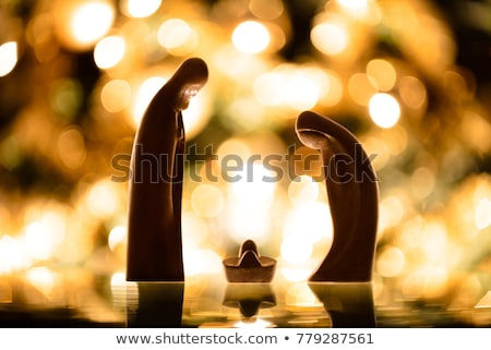 Wooden nativity scene Stock photo © maros_b