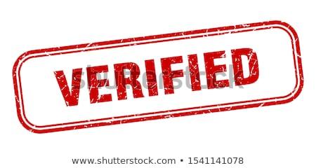 Verified stamp Stock photo © burakowski