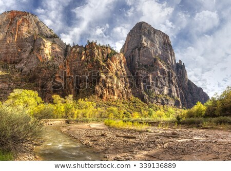 the great white throne zion canyon national park utah stock photo © billperry