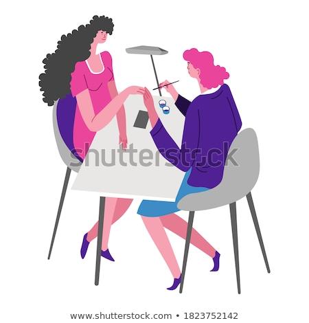 Donna chiodo manicure salone di bellezza primo piano view Foto d'archivio © juniart