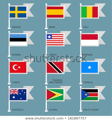 Flags of world, flat. Set number 09 Stock photo © Ecelop