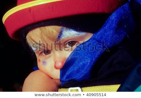 子供 · 赤 · ピエロ · 鼻 · 幸せ · 子 - ストックフォト © meinzahn